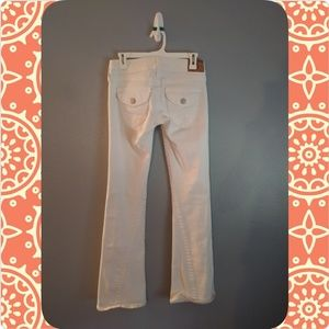 True Religion white Joey jeans.